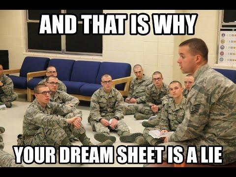 A Breakdown: Air Force Dream Sheets