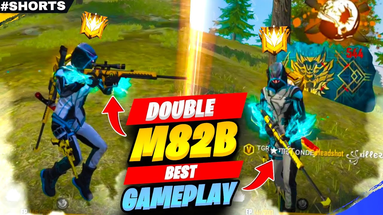 Solo Vs Squad Moment with Double M82B Best GamePlay #Shorts - Garena Free Fire
