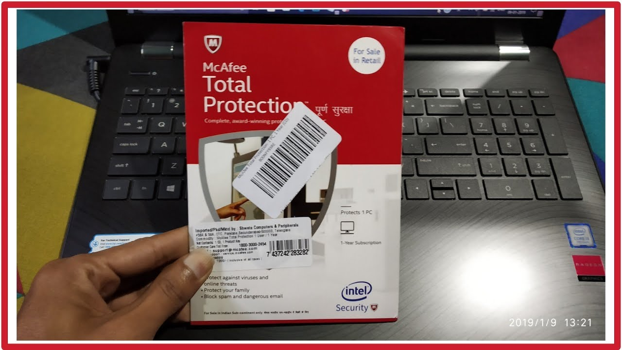 mcafee total protection product key unboxing and review | mcafee total protection installation