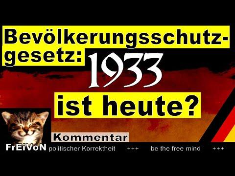 Bevölkerungsschutzgesetz: 1933 ist heute? Ermächtigungsgesetz? Kommentar