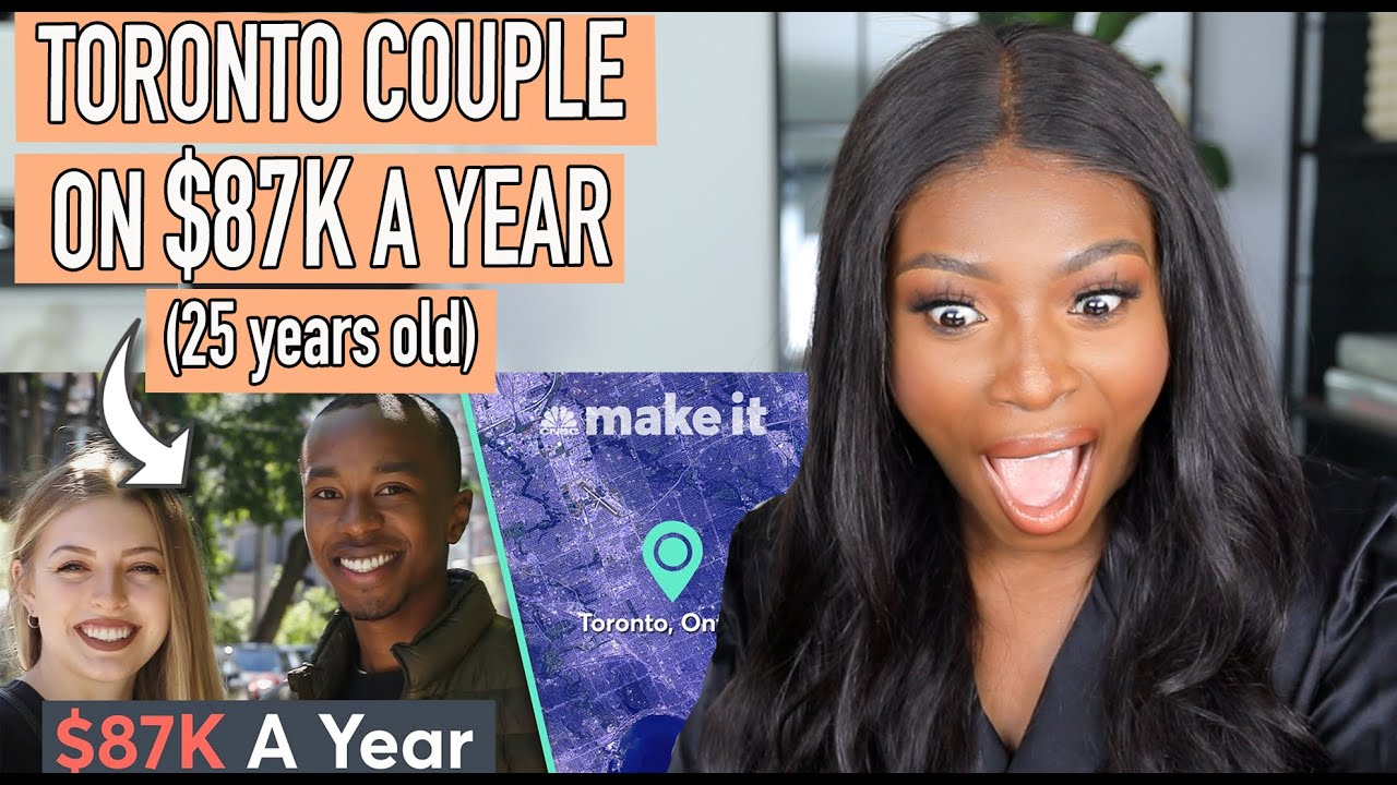 REACTING TO HOW A 25 YEAR OLD COUPLE SPEND THEIR $87K SALARY! CNBC MAKE IT