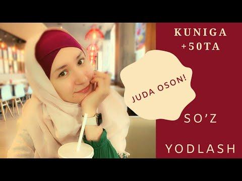 Kuniga +50ta inglizcha so'z yodlash! Bu juda oson! | Кунига +50та инглизча суз ёдлаш бу жуда осон!