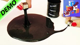 Make your own magnetic slime | The black Barrel-o-Slime is alive!