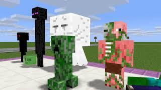 Monster School : BOTTLE FLIP GAME CHALLENGE VS BUDDY, SLENDRINA -  Minecraft Animation