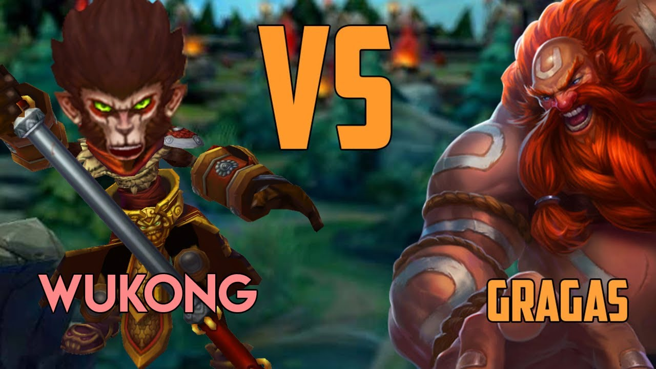"Gragas vs Wukong || ""such a balanced champ"" he says.. LOL"