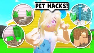 I MADE A PET STORE ONLY USING BUILDING *HACKS* AUF BLOXBURG! (Roblox)