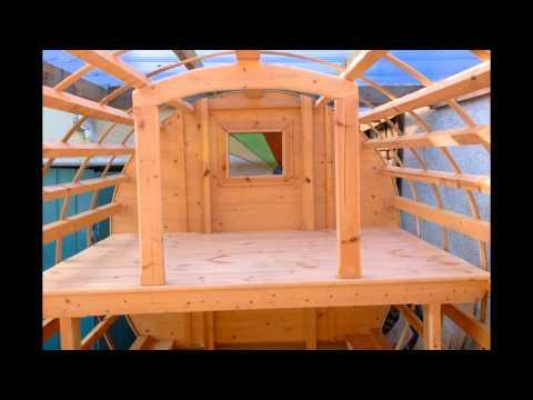 Gypsy bowtop caravan build. - YouTube