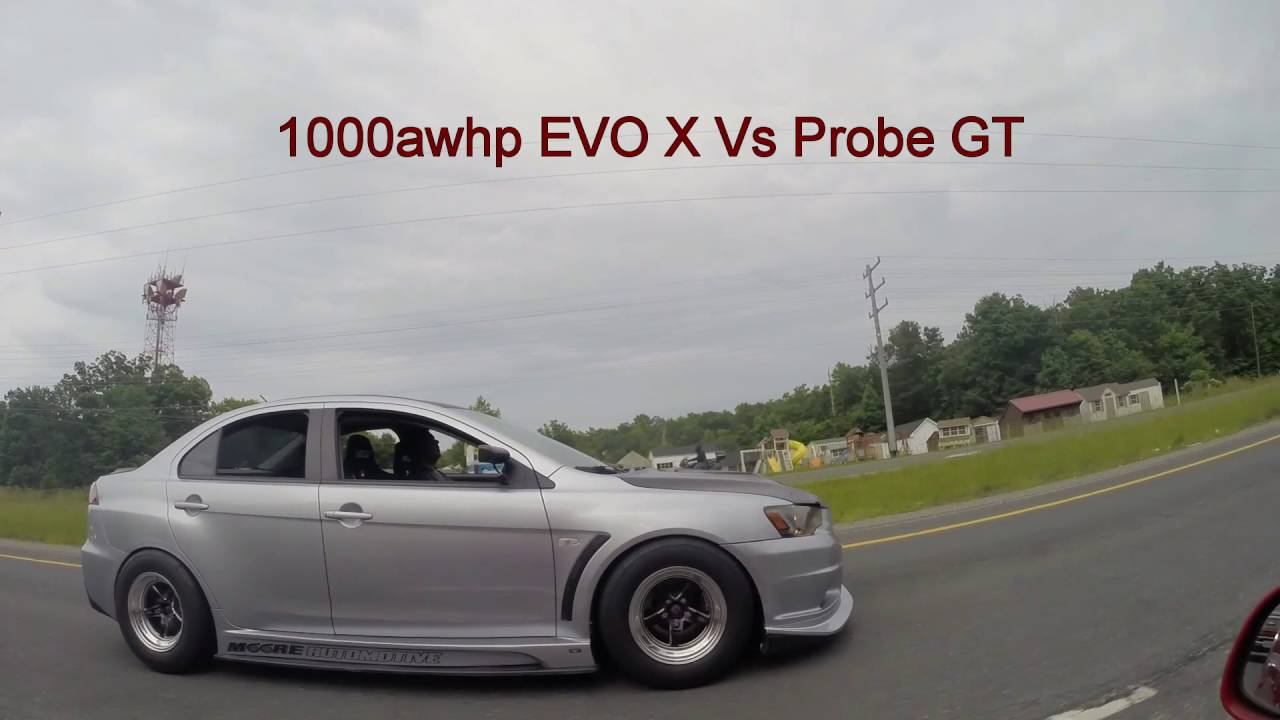 1000hp Evo X >> 1000hp EVO X VS Probe GT VS BMW 335 VS Turbo Civic....Race meet 12 - YouTube