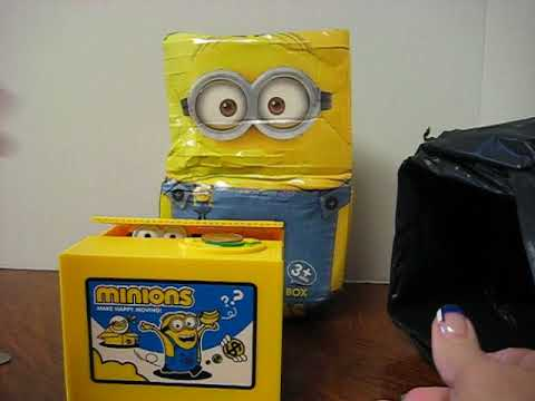 Interactive Cat,Minions,Panda,Pig Bank,Money-boxes,Funny Coin Collection Storage Video - Damage