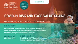 D-19 risk and food value chains
