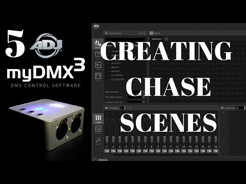 ADJ myDMX 3: Making Chase scenes using multiple steps
