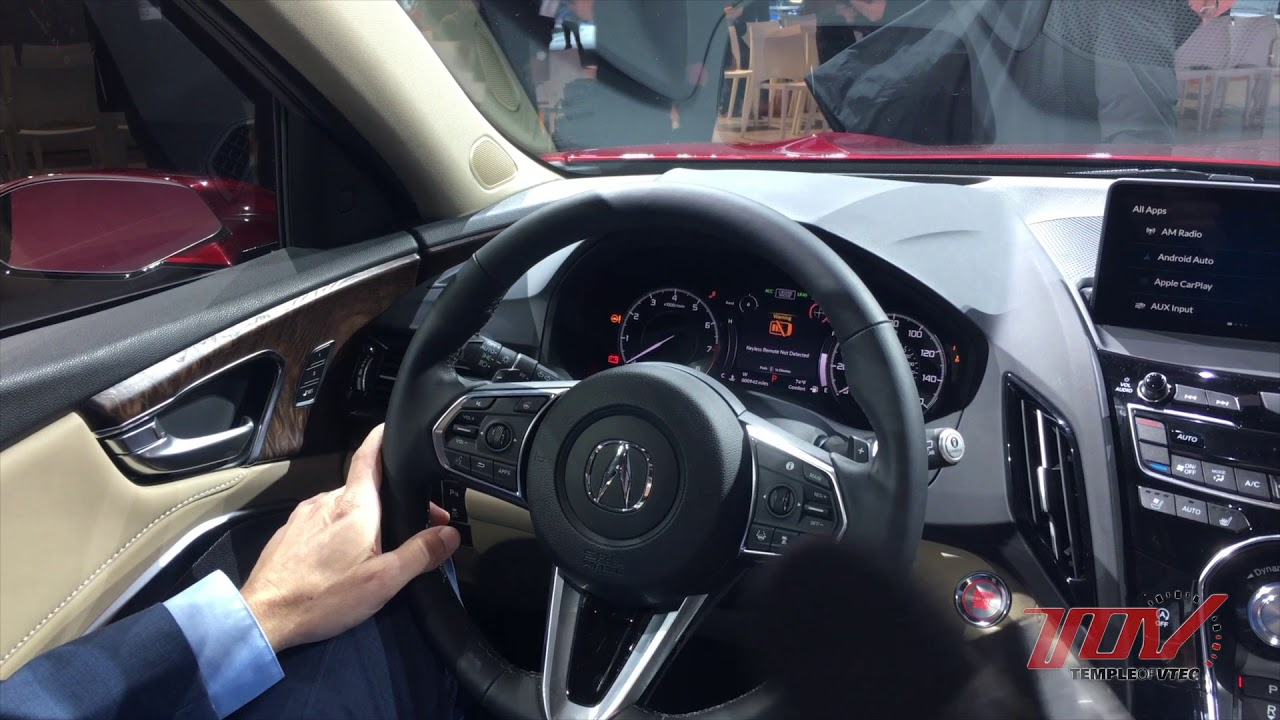 TOV Video 2019 RDX Interior Overview YouTube