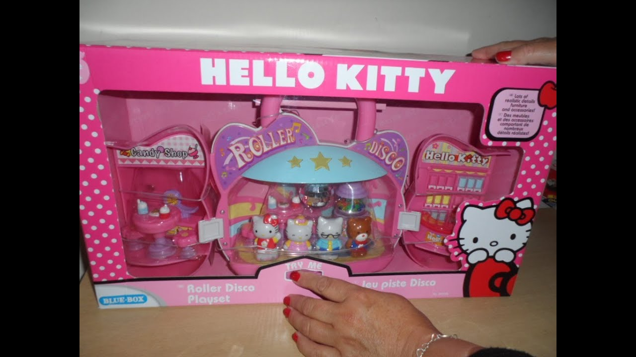 Latest hello kitty disco toy and candy store unboxing - Petite maison hello kitty ...