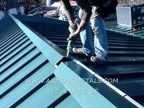 How To Measure And Install Standing Seam Metal Roof8 Youtube