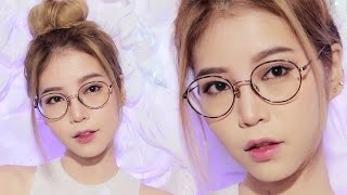 asian glasses makeup