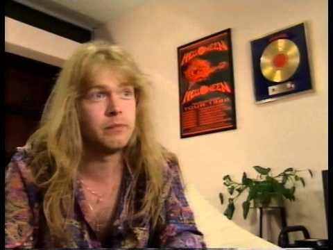Michael Kiske Helloween  Interview 1990 while Helloween was on hold