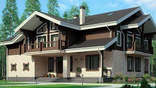 Проект дома в скандинавском стиле из теплой керамики. Дом с сауной, террасой. Ремстройсервис М-283