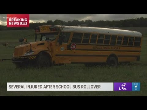 Oklahoma school bus rolls over north of Lampasas