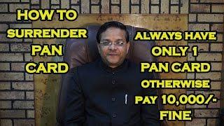 Surrender of PAN - Procedure under Income Tax