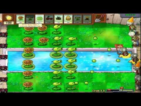 Plants vs zombies (Trồng cây bắn zombie) - Cấp độ 3-8 (Game Việt Hóa)