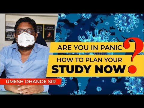 Live Session | Are You In Panic?? |How To Plan Your Study | Umesh Dhande Sir