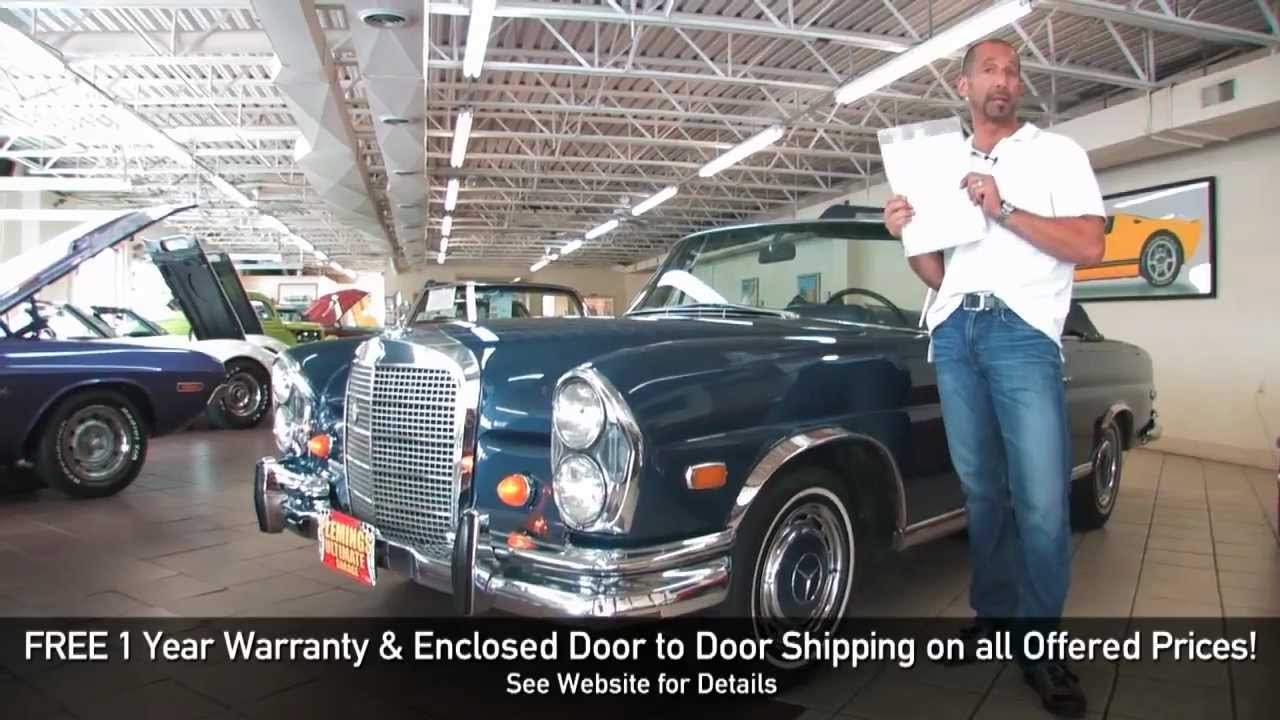 1969 mercedes 280se cabriolet for sale with test drive driving sounds and walk through video. Black Bedroom Furniture Sets. Home Design Ideas
