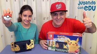 Unboxing Nintendo Switch Edición Pokemon Let's Go. TENEMOS NUEVA CONSOLA!