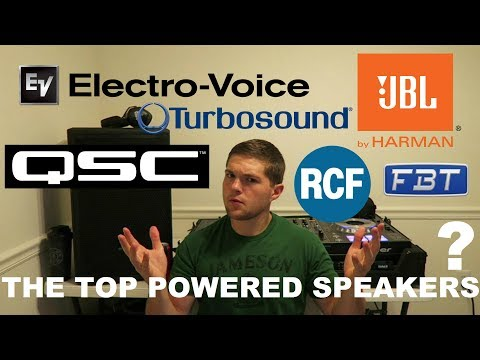The TOP Powered DJ SPEAKERS