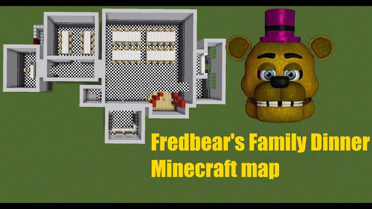 [FNaF speed build]Minecraft: Fredbear's Family Dinner V0 1
