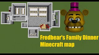 FNaF speed build Minecraft Fredbear s Family Dinner V0.1