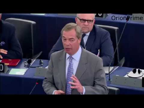 Nigel Farage at EU Parliament - Roasts Juncker over Blabbing. 17th May 2017