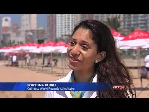 Durban company attempt sandcastle record