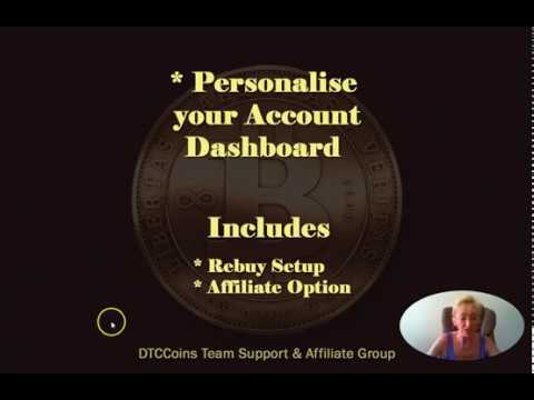Bitcoin Rebuy & Affiliate Options - Dashboard Overview