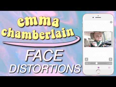 HOW TO DO EMMA CHAMBERLAIN'S FACE DISTORTION EFFECT ON IPHONE