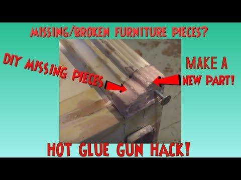 Missing Furniture Parts? Make a MOLD  *HOT GLUE GUN HACK! Casting Onlays, Roundette & Missing Parts