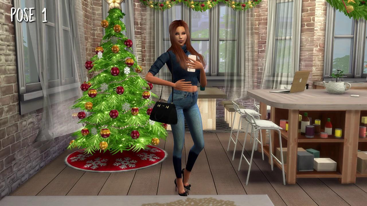 Sims 4 Christmas Poses.Sweetsorrowsims The Sims 4 Custom Content Selfie Pose Pack Ver 3 Preggo