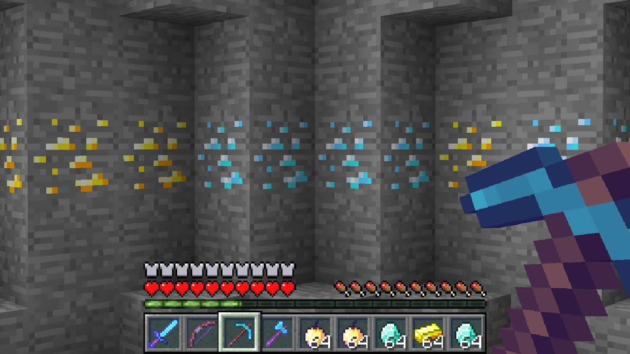 Minecraft UHC but all the ORES are in one LAYER