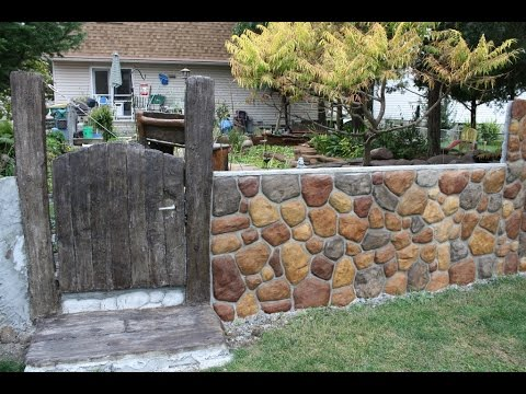 Part 2 of 2 Converting my chain link fence to a stone wall