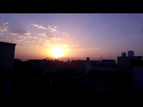 Sunrise Timelapse Video In Wah Cantt.