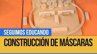 Construcción de máscaras con técnica de relieve y ensamble - Seguimos Educando