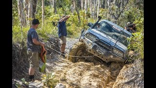 Badly BOGGED on the beach! Ruts, mud and rocks: EPIC 5 Rocks adventure