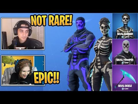 Streamers React To *NEW* Skull Ranger And Skull Trooper Styles! - Fortnite Best And Funny Moments