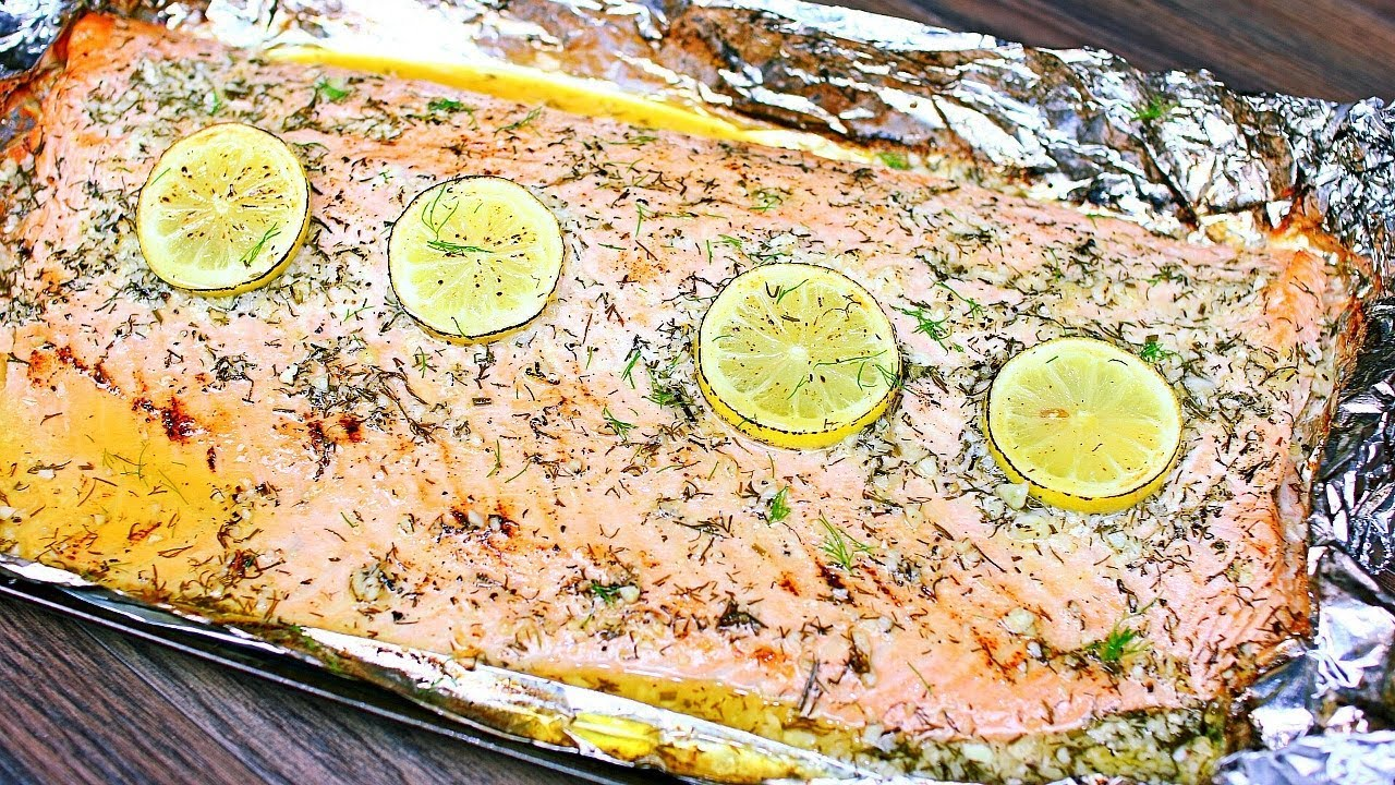 Easy 5 Ingredient Baked Salmon Recipe Lemon Garlic Butter Salmon