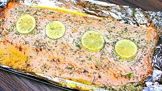 Easy 5 Ingredient Baĸed Salmon Recipe - Lemon Garlic Butter Salmon