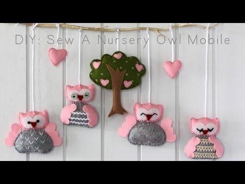 Diy Sew A Nursery Owl Mobile You
