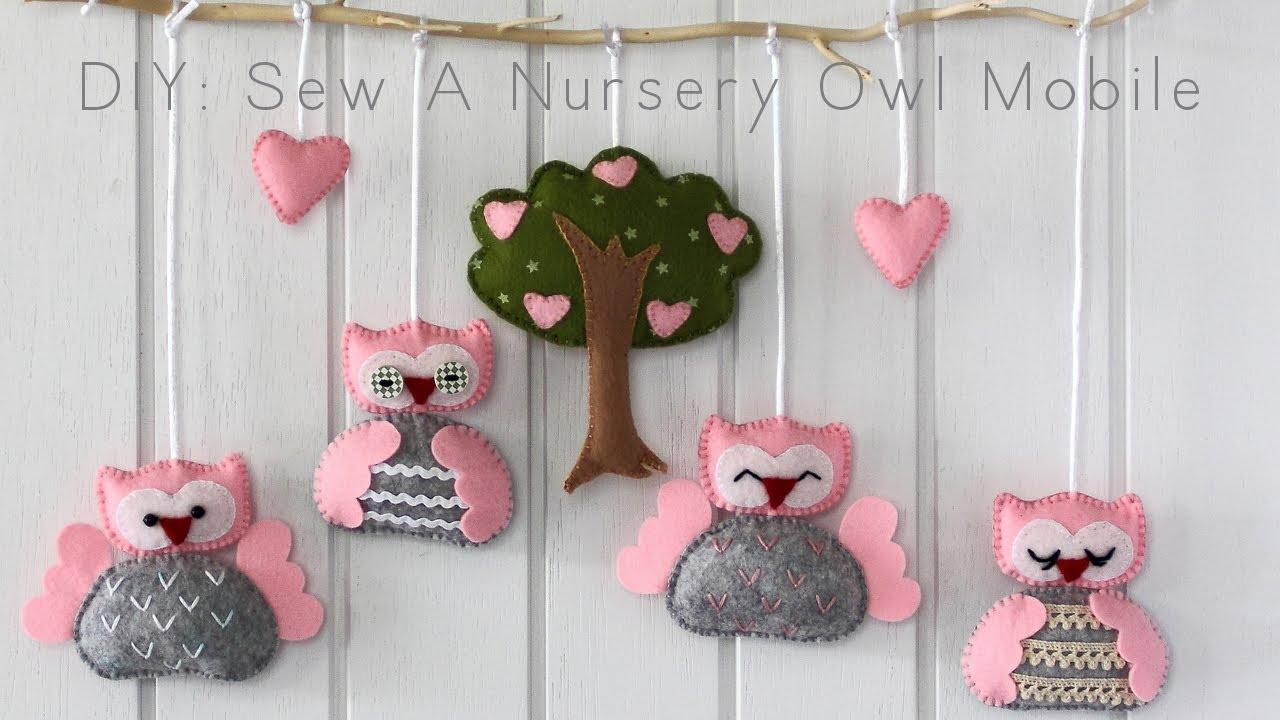 DIY: Sew A Nursery Owl Mobile - YouTube
