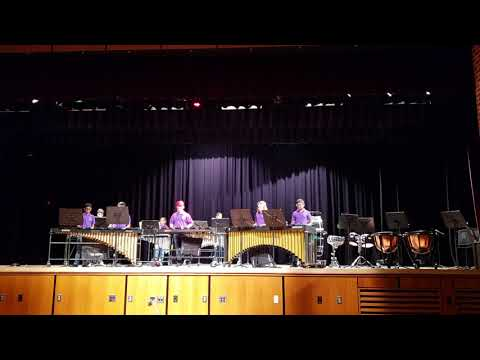 Stop Time by G.H. Green MTMS 6th grade percussion ensemble Music in the park 2018