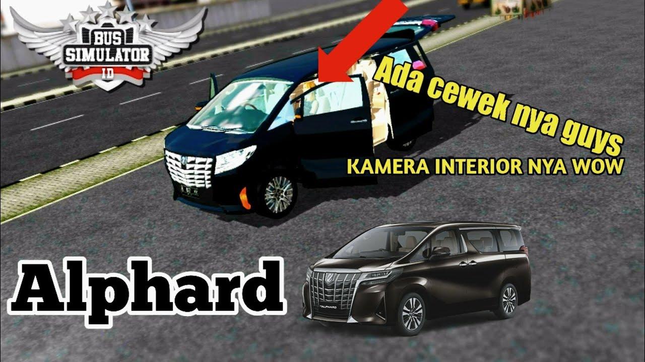 Jalan Jalan Pakek Mobil Alphard Hitam Review Mod Bussid Youtube