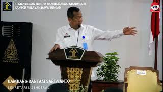Pengarahan CPNS Kanwil Kemenkumham Jateng dan DIY oleh Sekretaris Jenderal Kemenkumham RI