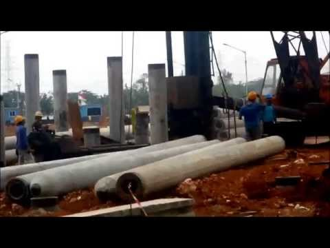Spun Pile Driving with Diesel Drop Hammer